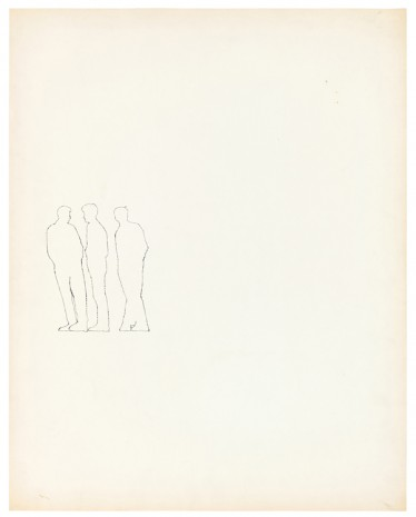 Andy Warhol, Three Figures, ca. 1953 , Galerie Buchholz
