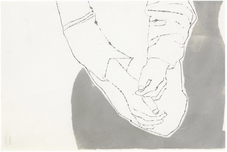 Andy Warhol, Male Crossed Hands, ca. 1957 , Galerie Buchholz
