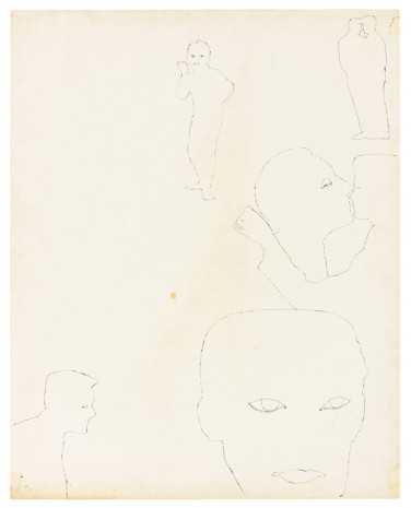 Andy Warhol, Blotted Line Figures, ca. 1953, Galerie Buchholz