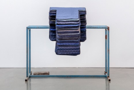 Theaster Gates, Untitled (Blue Rack with Stacked Crosses),  2019 , Regen Projects