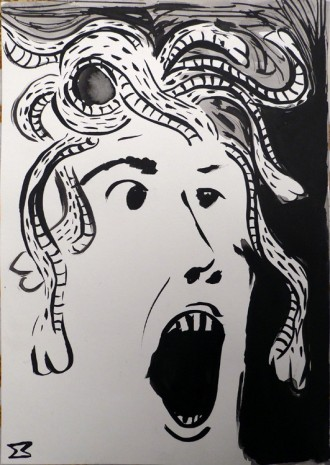 Sofia Stevi, Medusa drawing, 2018 , Pippy Houldsworth Gallery
