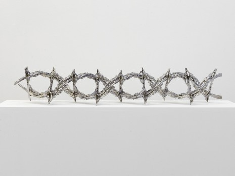 Wim Delvoye, Double Helix Crucifix Alternating Current, 2008, Perrotin