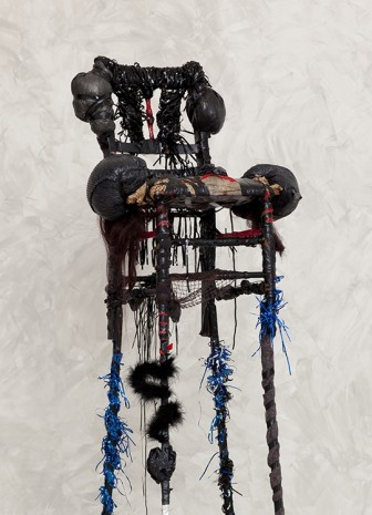 Wangechi Mutu, blackthrone XII (detail), 2012, Gladstone Gallery