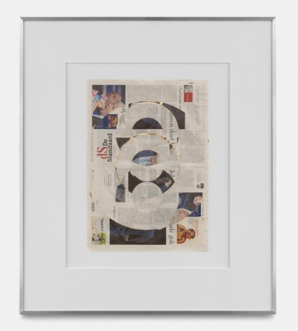 Walead Beshty, Blind Collage (Three 180° Rotations, de Standaard, Tuesday, September 3, 2019 , rodolphe janssen