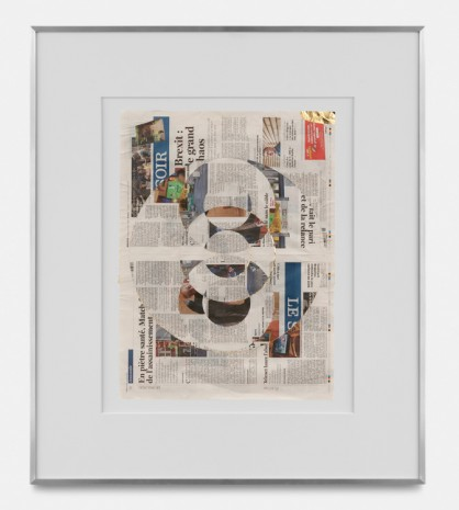 Walead Beshty, Blind Collage (Three 180° Rotations, Le Soir, Wednesday, September 4, 2019), 2019 , rodolphe janssen