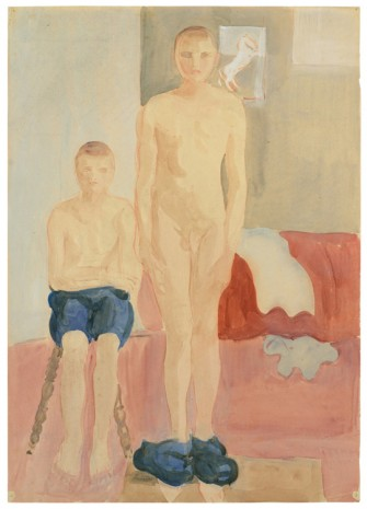 Otto Meyer-Amden, Two boys undressing, ca. 1928-1930 , Galerie Buchholz