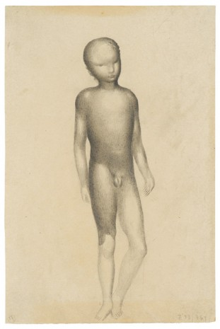 Otto Meyer-Amden, Nude boy (study for algraphy), 1923 , Galerie Buchholz