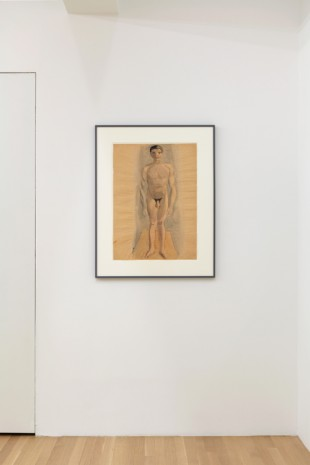 Otto Meyer-Amden, Nude boy standing on rectangular plane, 1920-1930 , Galerie Buchholz
