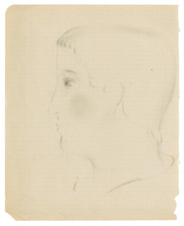 Otto Meyer-Amden, Head of boy in profile, ca. 1914-1915 , Galerie Buchholz