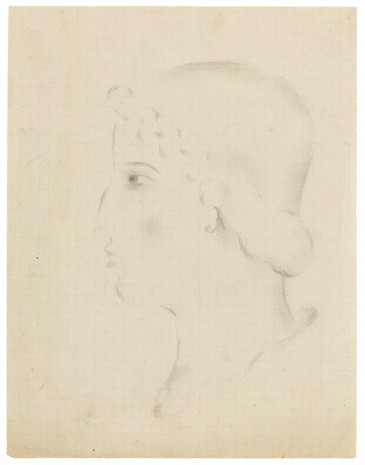 Otto Meyer-Amden, Head of girl in profile, ca. 1914-1915 , Galerie Buchholz