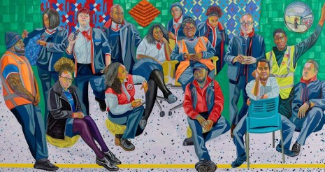 Aliza Nisenbaum, London Underground: Brixton Station and Victoria Line Staff, 2019 , Anton Kern Gallery