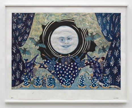 Marcel Dzama, I'll make the moon come up three hours late., 2019 , Sies + Höke Galerie