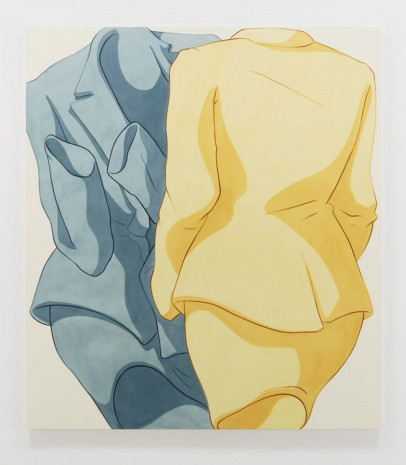 Ivy Haldeman, Back Forward, Cuffs Gesture Left, Torso Scrunch (Yellow, Blue), 2019, Hauser & Wirth