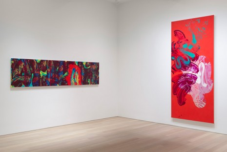 David Reed, New Paintings, Gagosian