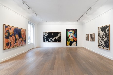 Pierre Alechinsky, Karel Appel, Travaux à deux pinceaux (1976-1978), Galerie Lelong & Co.