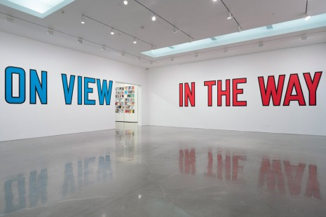 Lawrence Weiner, ON VIEW, Regen Projects