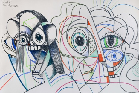 George Condo, DRAWINGS FOR DISTANCED FIGURES, Hauser & Wirth