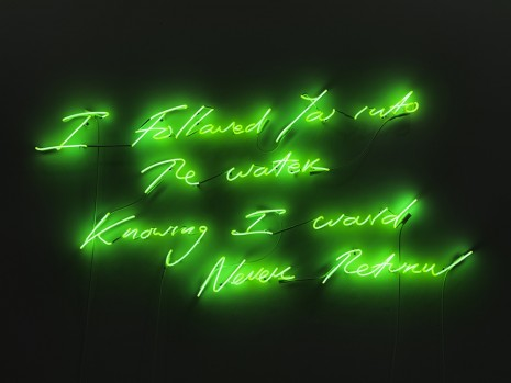 Hernan Bas, Ashley Bickerton, Billy Childish, Mary Corse, Tracey Emin..., I Followed You Into The Water	, Lehmann Maupin