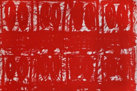 Rashid Johnson, Untitled Anxious Red Drawings, Hauser & Wirth