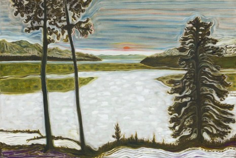 Billy Childish, wolves, sunsets and the self, Lehmann Maupin