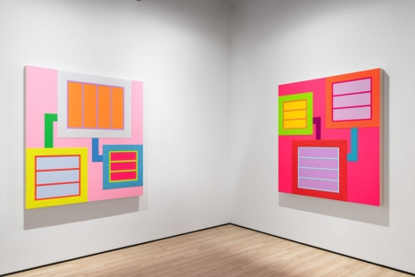 Peter Halley, Three Paintings, Almine Rech