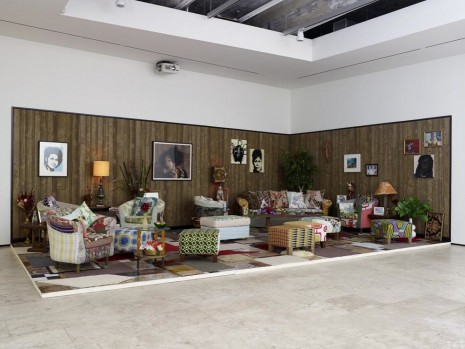 Mickalene Thomas, How to Organize a Room Around a Striking Piece of	 Art	   	, Lehmann Maupin
