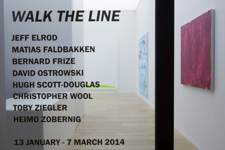 Jeff Elrod, Matias Faldbakken, Bernard Frize, David Ostrowski..., Walk the Line, Simon Lee Gallery