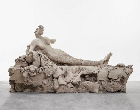 Urs Fischer, last supper - mermaid / pig / bro w/ hat, Gagosian
