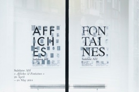 Saâdane Afif, Affiches & Fontaines, Xavier Hufkens