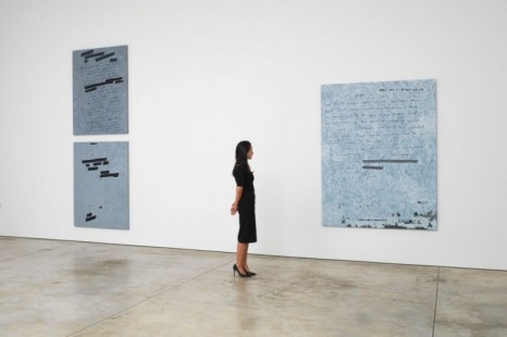 Jenny Holzer, Dust Paintings, Cheim & Read