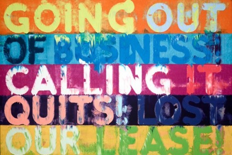 Mel Bochner, GOING OUT OF BUSINESS! (and other recent paintings on velvet), Simon Lee Gallery