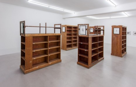 Ann Böttcher, Transmigrations (Bookshelves, a cannon emplacement and a Mercedes), Galerie Nordenhake