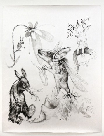 Per Dybvig, outdrunk from neighbourhood, dead hare surrounded, Christine Koenig Galerie