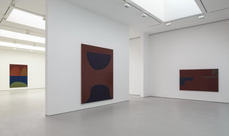 Suzan Frecon, oil paintings and sun, David Zwirner