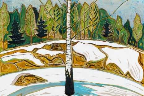 Billy Childish, flowers, nudes and birch trees: New Paintings 201, Lehmann Maupin