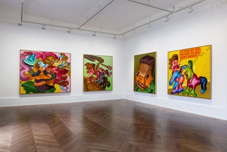 Peter Saul, Some Terrible Problems, Michael Werner