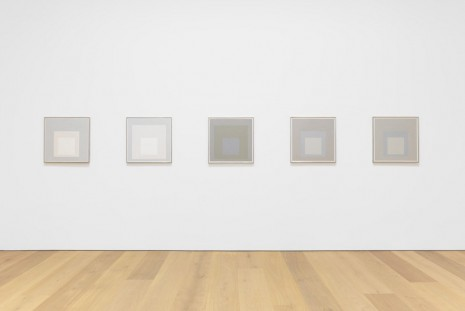 Josef Albers, Grey Steps, Grey Scales, Grey Ladders, David Zwirner