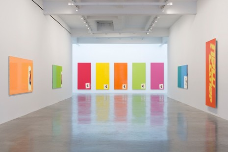 Michel Majerus, Aluminum Paintings, Matthew Marks Gallery