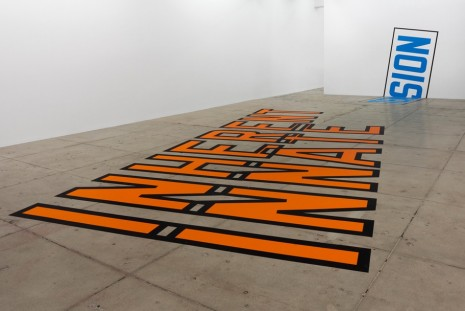 Lawrence Weiner, INHERENT INNATE TENSION, Marian Goodman Gallery