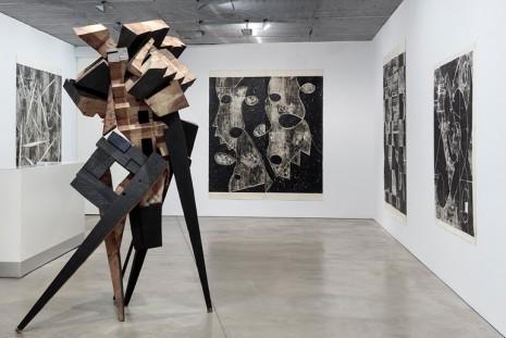 Mel Kendrick, Woodblock Drawings, David Nolan Gallery