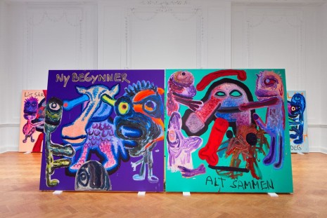 Bjarne Melgaard, Bodyparty (Substance Paintings) & Life Killed My Chihuahua, Galerie Thaddaeus Ropac