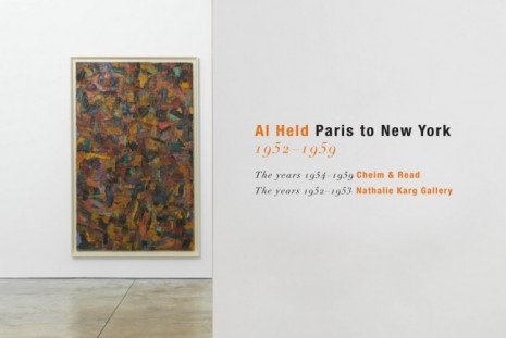 Al Held, Paris to New York 1952–1959, Cheim & Read