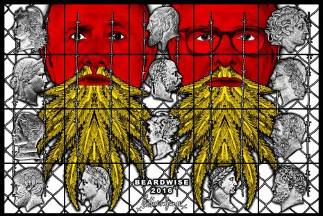 Gilbert & George, THE BEARD PICTURES, Galerie Thaddaeus Ropac