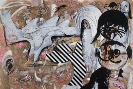 Charline von Heyl, New Work, Petzel Gallery