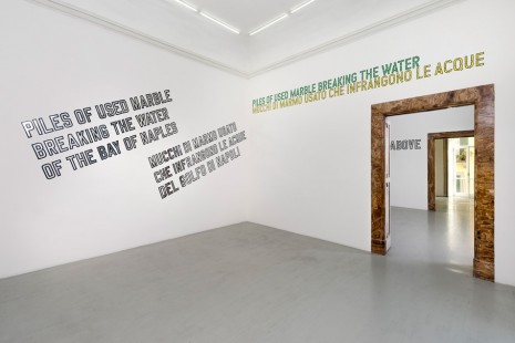 Lawrence Weiner, PILES OF USED MARBLE BREAKING THE WATER, Alfonso Artiaco