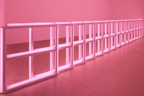 Group show, Flavin, Judd, McCracken, Sandback, David Zwirner