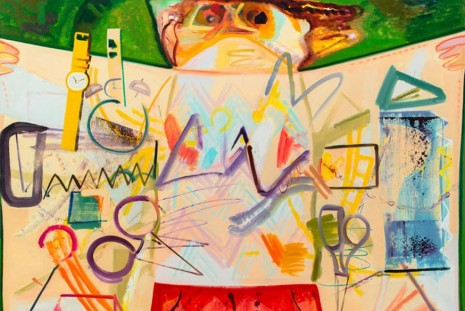 Dana Schutz, Piano in the Rain, Petzel Gallery