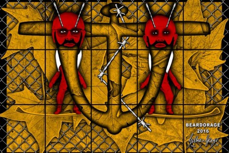 Gilbert & George, THE BEARD PICTURES, Lehmann Maupin