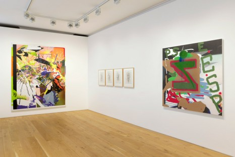 Glenn Brown, Jeff Elrod, Julian Schnabel, Ida Tursic & Wilfried Mille..., INPUT / OUTPUT: PAINTING AFTER TECHNOLOGY, Galerie Max Hetzler